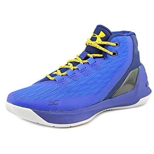Under Armour GS Curry 3 Jugend US 7 Blau BasketballSchuh