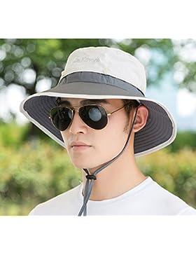 TAGVO Sombreros de ala ancha para el sol, Sombreros de pescador Sombrero de lona de sombreado solar para viajes...