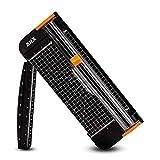AIEX Guillotia de Papel A4 de Titanio cizalla papel con Automático de Seguridad Salvaguardar Regla Diseño para Scrapbooking Cupón Craft Etiqueta Foto (Negro, 15.0 inches)