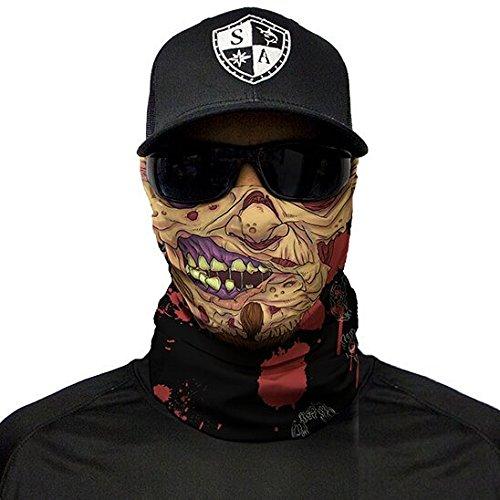 SA Fishing Company Face Shield Sturmhaube viele verschiedene Designs Multiunktionstuch Maske Fishing Totenkopf Schal Skull Bandana Gesichtsmaske Halstuch Ski Motorrad Paintball (Flesh Zombie)