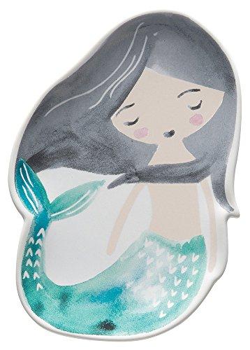 Danica Studio Eintagsfliege Studio Mini-Tablett Schmuckkästchen aus Keramik Meerjungfrau-Türkis -