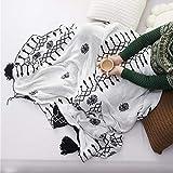 YIWANGO Gestrickte Decke Stuhl Sofa Werfen Decke Plaid Bettwäsche Gobelin
