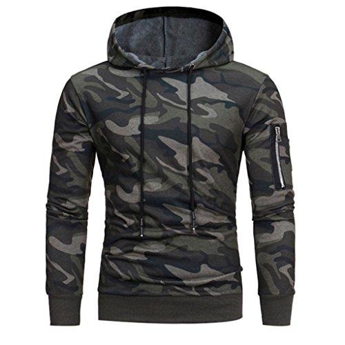 UJUNAOR Pullover Herren 2019 Mode Männer Langarm-Hoodie Camouflage Mit Kapuze Sweatshirt Tops Jacke Mantel Outwear -