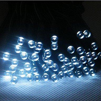 H&M ?17M100-LED solar Christmas string lights indoor outdoor flashing light bar-white