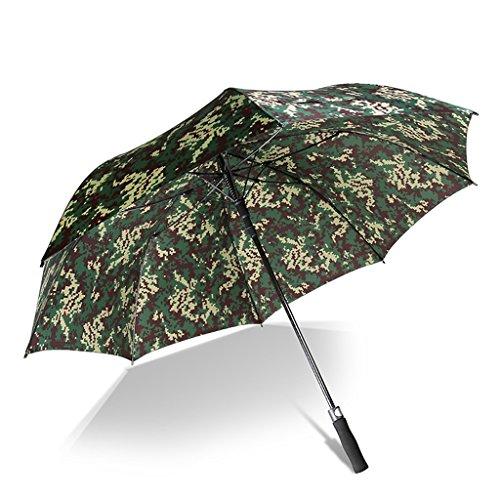 ZH Regenschirme Extra große Stick Regenschirm Winddicht Fiberglas Ribs manuelle Reise leichte tragbare schnell trocknende Rutschfeste Griff für einfache Durchführung (Farbe : ()