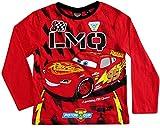 Cars Disney 3 Langarmshirt Lightning McQueen Jungen (Rot, 98-104)