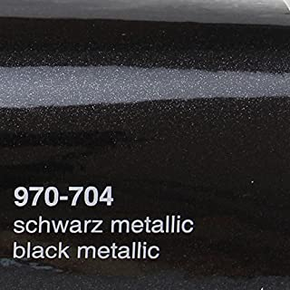 Oracal 970 RA 704 Schwarz Metallic Glanz gegossene Profi Autofolie 152cm breit BLASENFREI mit Luftkanäle | Oracal 970RA