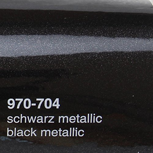Unbekannt Oracal 970 RA 704 Schwarz Metallic Glanz gegossene Profi Autofolie 152cm breit BLASENFREI mit Luftkanäle | Oracal 970RA