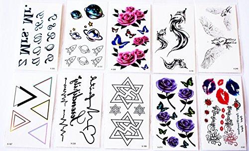 wolga-kreativ-tattoo-set-10-bogen-wie-hauptbild-blume-schmetterling-rose-lippen-schriftzug-buchstabe