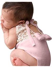 Zolimx Bebé Recién Nacido Fotografía Encaje Atrezzo Bowknot Mameluco ...