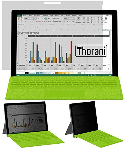 Thorani Privacy Filter kompatibel mit Microsoft Surface Pro 5 und Surface Pro 6 - Sichtschutzfolie schützt vor unerwünschten Blicken
