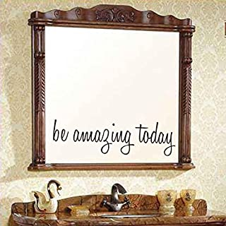 DRESS Be Amazing Today Wall Sticker Decal Mural DIY Mirror Decoration Home Decor 40 x 9cm