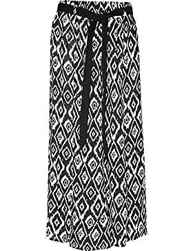 KK Fashion lines - Gonna estiva da donna, stampa floreale, tessuto in viscosa, con fascia elastica in vita, mod...