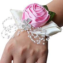 Yimosecoxiang New damigella d  onore sorelle cinturino corpetto fiori nastro  strass wedding Supplies – Viola e0cce15b04e