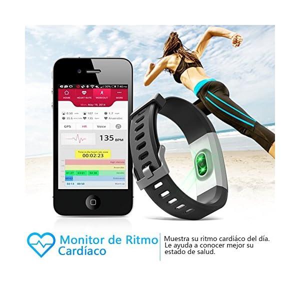 BANLVS Pulsera Actividad, Pulsera Inteligente con 14 Modos de Deporte, GPS Pulsómetro Monitor de Ritmo Cardíaco Sueño… 4