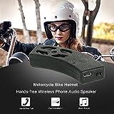 KKmoon Sistemi Audio per Motociclo Bici Casco Mani-libere Wireless Phone Stereo Audio Altoparlante