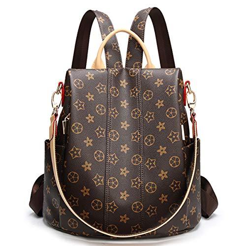 Neue Rucksack Anti-Diebstahl-Umhängetasche Wickeltasche Druck Student Tasche Multifunktions-Frau Tasche Messenger Bag Umhängetasche (Alte Blume 1, 30 * 14 * 29cm) (Handtasche Chanel)