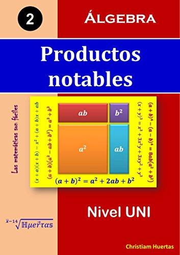 Productos notables: Álgebra (Las matemáticas son fáciles nº 2) por Christiam Manuel Huertas Ramírez