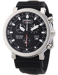 Formex 4 Speed RS700 - Reloj cronógrafo de caballero de cuarzo con correa de silicona negra (cronómetro) - sumergible a 100 metros