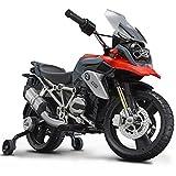 Rollplay Elektro-Motorrad, mit Stützrädern, Für Kinder ab 3 Jahren, bis Max. 35 kg, 6-Volt-Akku, bis zu 4 km/h, BMW 1200 Motorcycle, Rot