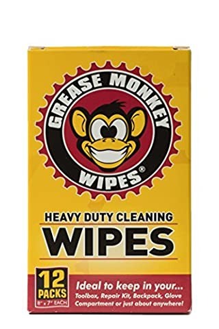 Grease Monkey Wipes Individual Heavy Duty Multi Purpose Cleaning Wipes (Box of 12) by Grease Monkey Wipes