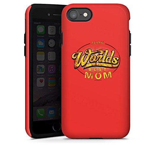 Apple iPhone X Silikon Hülle Case Schutzhülle Worlds Best Mom Muttertag Mama Tough Case glänzend
