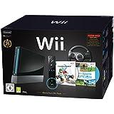 "Nintendo Wii ""Mario Kart Pak"" - Console avec Wii Sports, Mario Kart Wii, Volant Wii + contrôleur Remote Plus, noir."