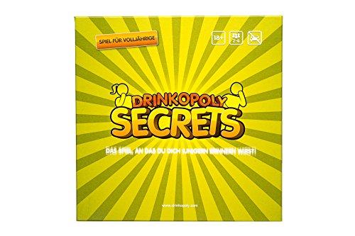 Drinkopoly Secrets - Das Spiel, an das Du dich (un)gern erinnern wirst! - Das Partyspiel für Erwachsene