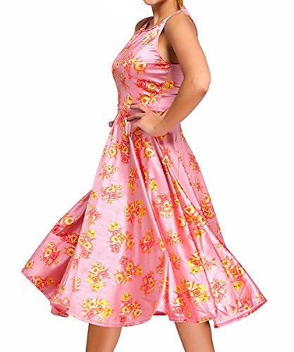 Dissa DSY61114 Deman Cocktailkleid Swing Kleid Rosa