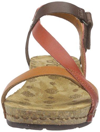 art Pompei, Sandales Bride cheville femme Marron (Multi Brown)