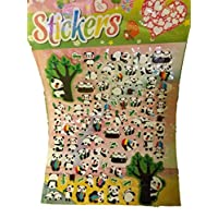1 x Large sheet Cute Panda Zoo animal Puffy 3D style decal re-usable stickers for Craft Kids Scrap Books Birthday Cards