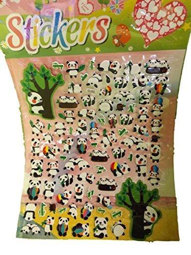 1 x groß bogen Niedlicher Panda Zoo tier Puffy 3D stil aufkleber wiederverwendbare sticker zum Basteln Kinder Schrott-bücher-geburtstag Karten -