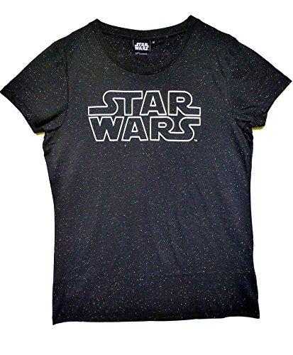 Star Wars - Logo (Leuchtet im Dunkeln) Ladies Shirt (M)