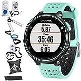 Garmin Forerunner 235GPS Sport Armbanduhr mit wrist-based Herzfrequenz Monitor–Frost Blau (010–03717–48) mit 7in 1Total Widerstand Fitness Kit
