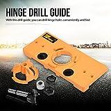 35mm Scharnierbohrlehre Jig Bohrlehre Guide Set Bohrführung Werkzeug für Holzverarbeitung, Lochbohren, Bohrschablone