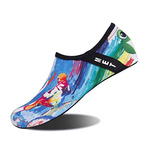 IceUnicorn Schwimmschuhe Damen Herren Strandschuhe Surfschuhe Aquaschuhe Barfuß Badeschuhe für Wassersport Beach Pool Surfen Yoga(Surfen, 44/45EU)