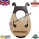 AJW Nouvelle Lyre harpe 8 cordes deux tons Couleur/Lyra harpe 8 cordes en métal + Housse de transport