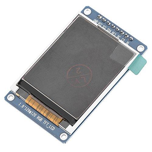 Tihebeyan Monitor-Controller-Modul, 1,8 Zoll ST7735 SPI Serial Port 128 * 160 LCD-Bildschirm TFT-Farbdisplay Display Control Panel 8 Pin Serial Port Control