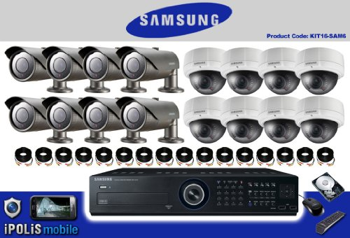 AV1-16-1-TB-Samsung-de-Vigilancia-Cmara-CCTV-Kit-de-seguridad-para-6