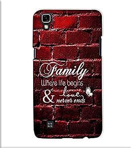 Fuson Designer Back Case Cover for LG X Power :: LG X Power K220DS K220 (Family where life theme)
