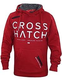 New Mens Crosshatch Printed Faux Fur Pullover Hoodie Shoulder Zip Sweatshirt Top