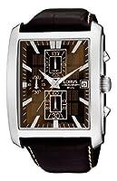 Reloj de caballero Lorus RM319BX9 de cuarzo, correa de piel color marrón de Lorus