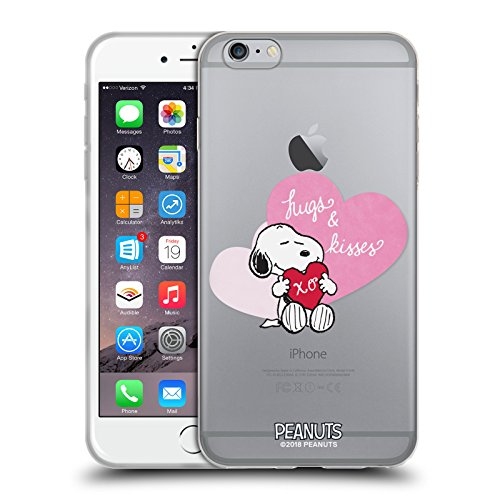 Head case designs ufficiale peanuts snoopy baci e abbracci sigillato con un bacio cover morbida in gel per iphone 6 plus/iphone 6s plus