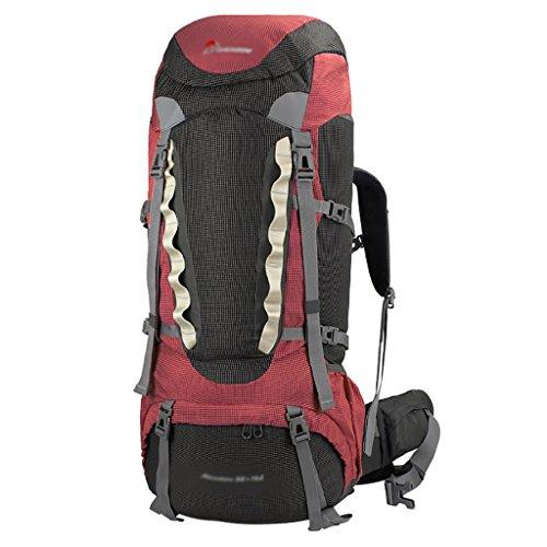 HWLXBB Borsa per alpinismo all'aperto Uomini e donne 55L + 10L Borsa alpinistica multifunzione impermeabile Escursioni alpinismo Zainetto per il tempo libero all'alpinismo zaino ( Colore : B ) A