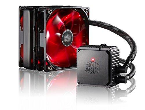Cooler Master Seidon 120V V3 Plus Wasserkühlung '120mm Radiator , 2x 120mm XtraFlo Lüfter, Rote LED' RL-S12V-22PR-R1