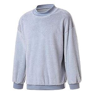 VRTUR Herren Pullover Langarm solide Sweatshirt Top Outwear Bluse