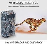 SuRose 4G Wildlife Trail Kamera 16MP 1080P Infrarot-Nachtsicht-Bewegung Aktivierte Wild Hunting Game Cam 120 ° Reichweite 0,5s Auslösergeschwindigkeit IP56 Wasserdicht für Home Security Surveillance