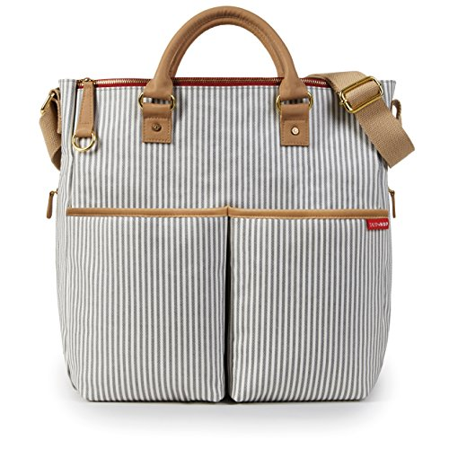 Skip Hop Duo Special Edition Wickeltasche mit Wickelunterlage, in French Stripe, grau-weiß gestreift