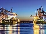 Artland Qualitätsbilder I Poster Kunstdruck Bilder 60 x 45 cm Städte Deutschland Hamburg Foto Bunt C0FM Hamburg Hafen am Abend 2