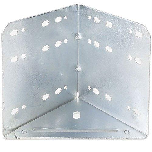 Preisvergleich Produktbild LignoWare® Bettwinkel,  Bettverbinder,  Eckverbinder verzinkt (stabile Bettbeschlag Ausführung)
